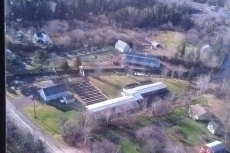 Aerial view of Hatchery although no damage visible