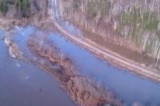 Residual water just below Doyle's Bridge