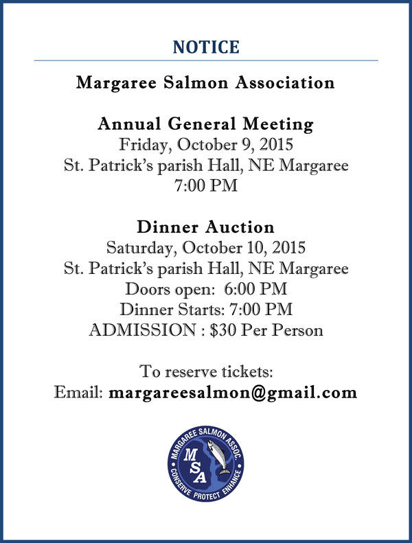 2015 MSA AGM and Dinner Auction